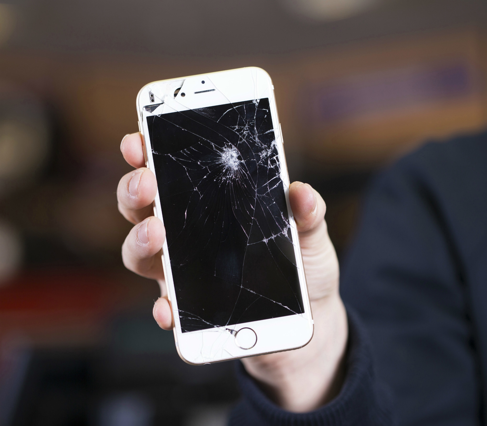 Cracked Screen Smartphone