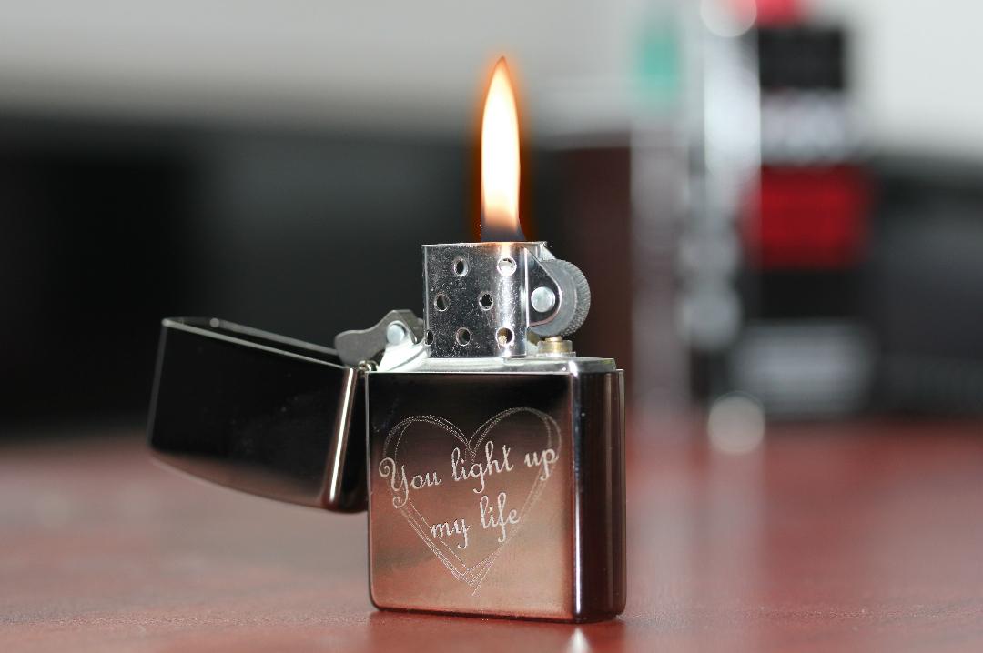 Gegraveerde Zippo aansteker