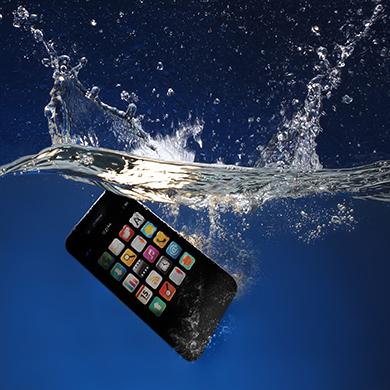 Wasser-Handy-Smartphone