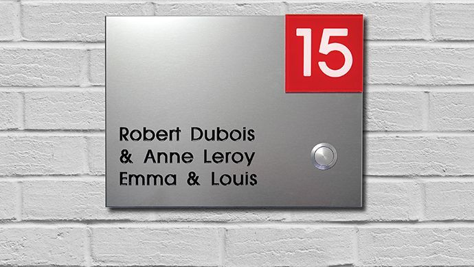 Door plates and house signs