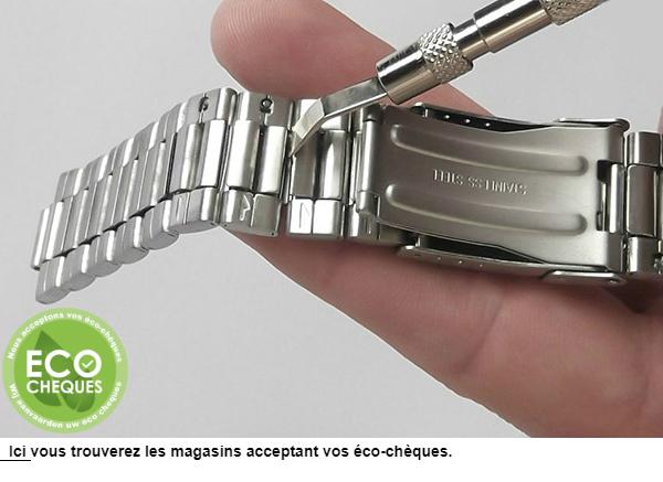 Changement de bracelet de montre