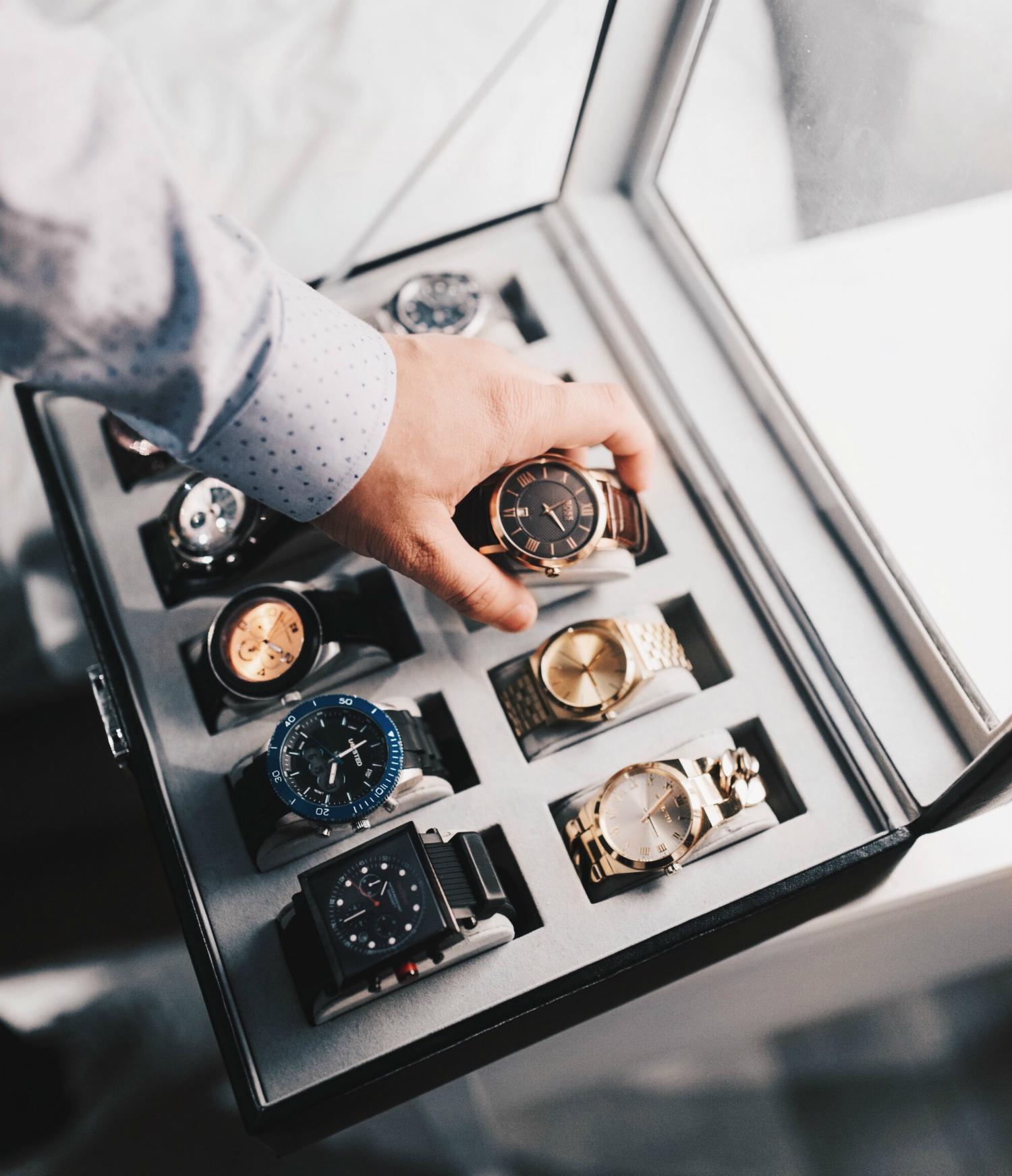 Boîte de rangement pour les montres